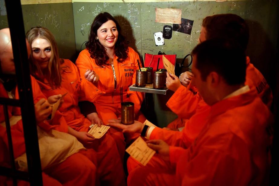 «Alcotraz est une combinaison unique de théâtre immersif,... (Photo BEN STANSALL, AFP)