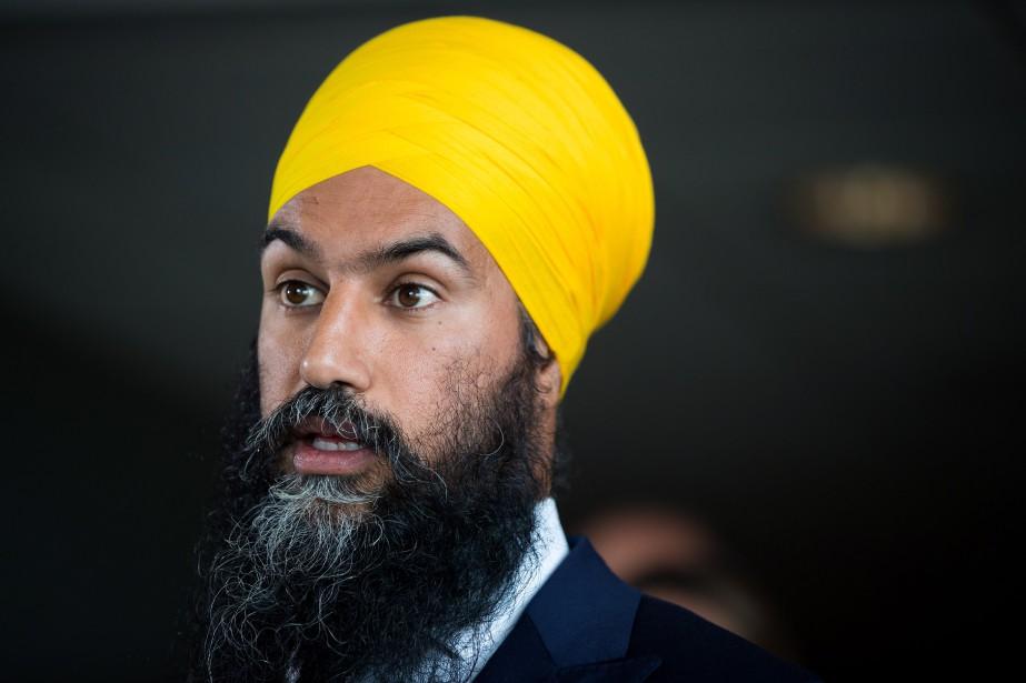 Le chef du NPD, Jagmeet Singh... (PHOTO Darryl Dyck, ARCHIVES LA PRESSE CANADIENNE)