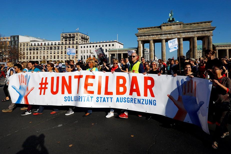 Au moins 150000manifestants ont répondu présent, a annoncé... (Photo Michele Tantussi, REUTERS)