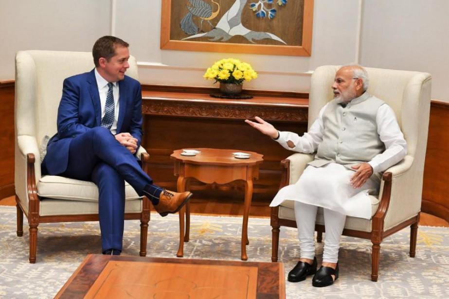 Sur Twitter, le premier ministre de l'Inde Narendra... (Photo tirée du compte Twitter deNarendra Modi)