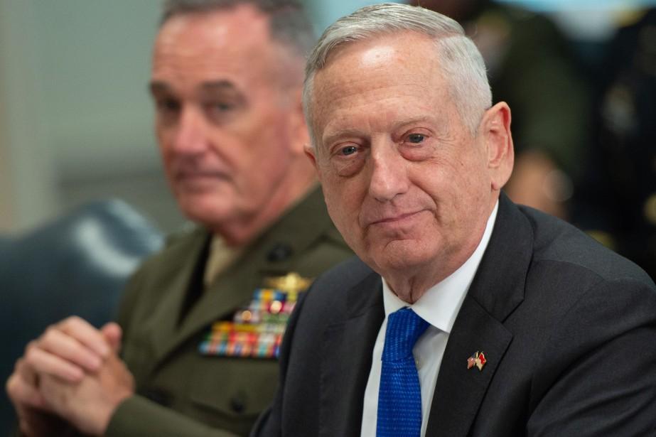 Général à la retraite, JimMattis élude généralement toute... (PHOTO AFP)