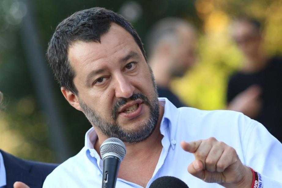 Le ministère italien de l'Intérieur, Matteo Salvini, d'extrême... (photo Daniele Mosna, ANSA, via AP)