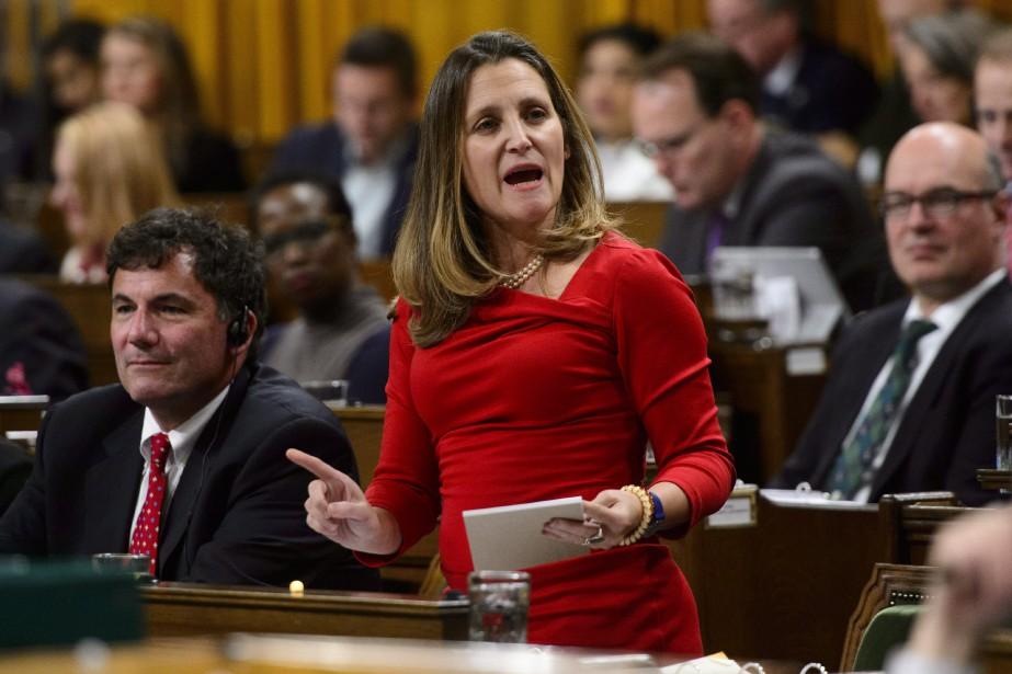 La ministre des Affaires étrangères, Chrystia Freeland.... (Photo Sean Kilpatrick, La Presse canadienne)