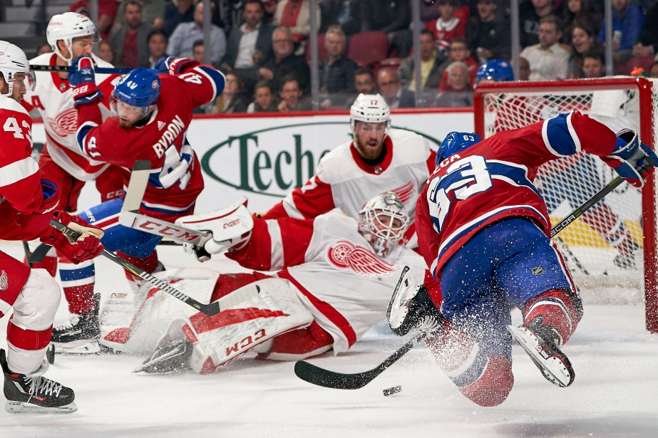 Relisez la couverture du match opposant le Canadien aux Red Wings... (La Presse)