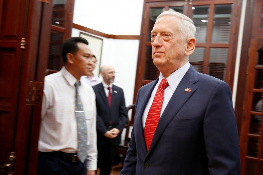 Le ministre américain de la Défense Jim Mattis... (Photo KHAM, REUTERS)