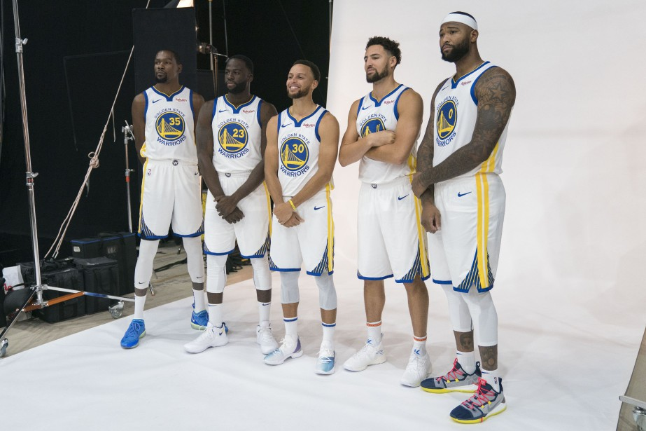 Kevin Durant, Draymond Green, Stephen Curry, Klay Thompson... (Photo Kyle Terada, USA TODAY Sports)
