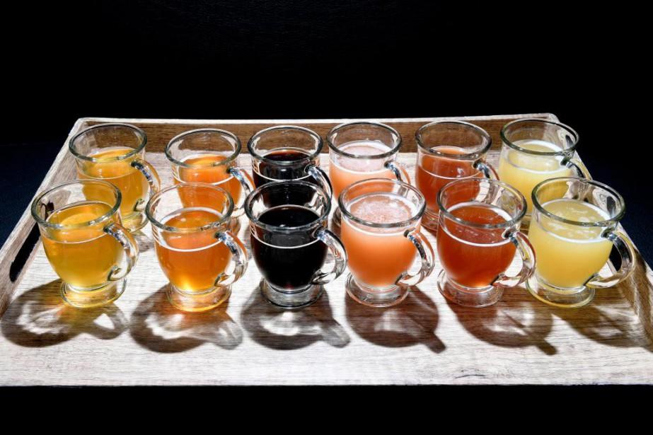 Six bières aux styles éminemment différents (la couleur... (PHOTO BERNARD BRAULT, LA PRESSE)