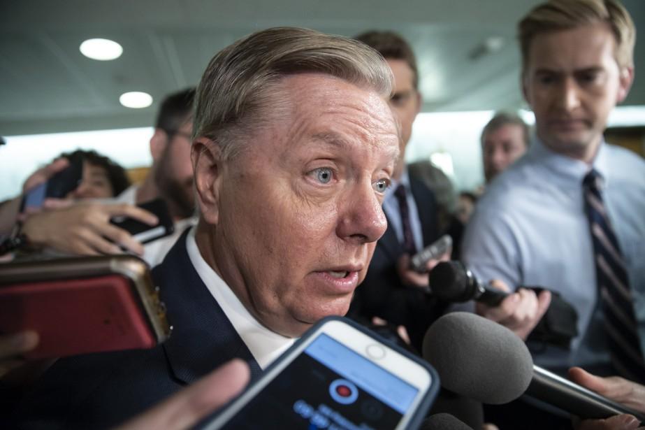 Très remonté, Lindsey Graham, proche de Donald Trump,... (Photo J. Scott Applewhite, Associated Press)