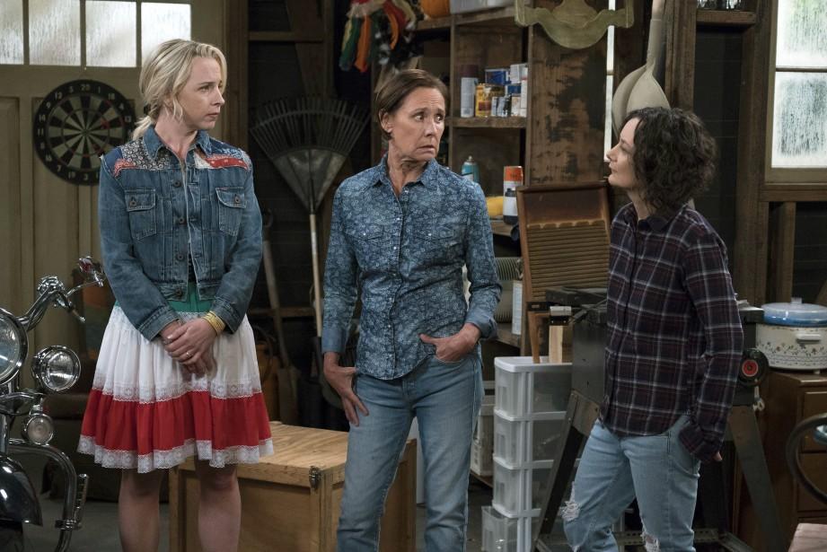 Les actrices Lecy Goranson, Laurie Metcalf et Sara... (PHOTO AP)