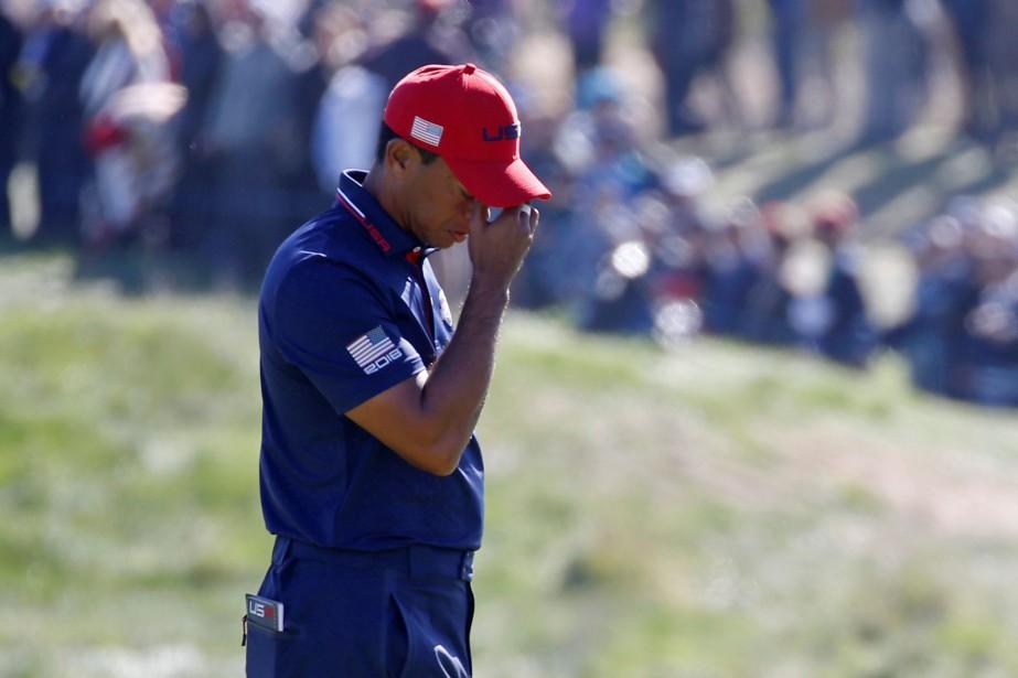 Tiger Woods a subi quatre défaites en autant... (Photo Regis Duvignau, Reuters)