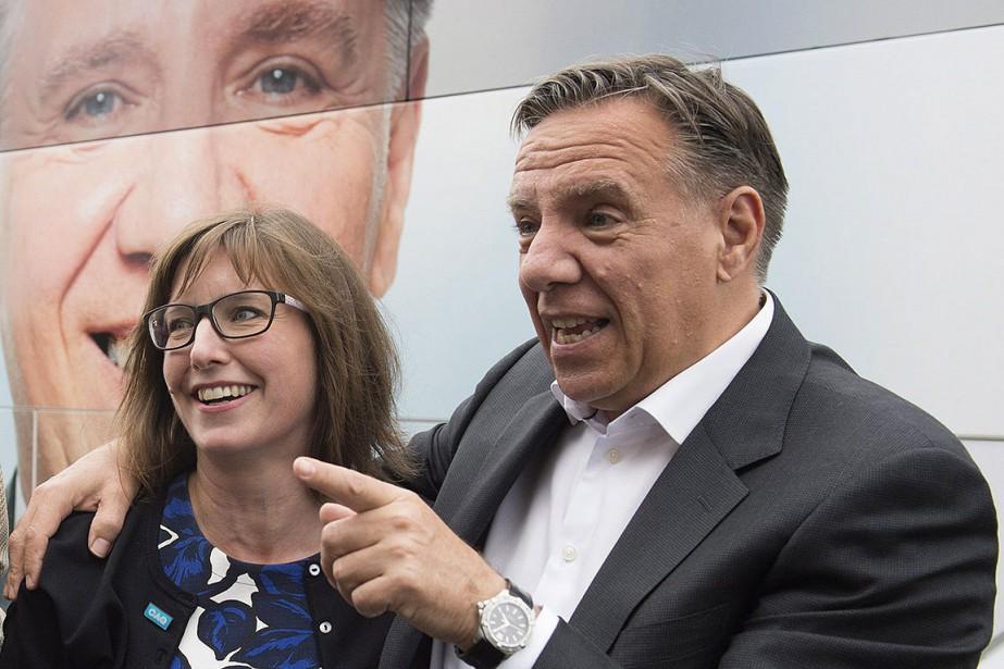Marie-Eve Proulx et François Legault, lors de la... (THE CANADIAN PRESS)