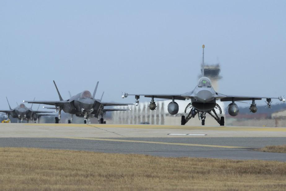 Vigilant Ace est un exercice aérien qui a... (Photo Senior Airman Colby L. Hardin, archives AP)