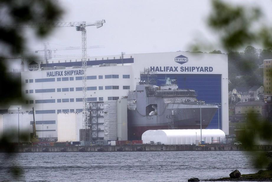 La construction des navires de guerre doit commencer... (Photo Andrew Vaughan, LA PRESSE CANADIENNE)
