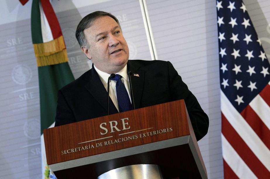 Le chef de la diplomatie américaine Mike Pompeo... (Photo Brendan Smialowski, AP)