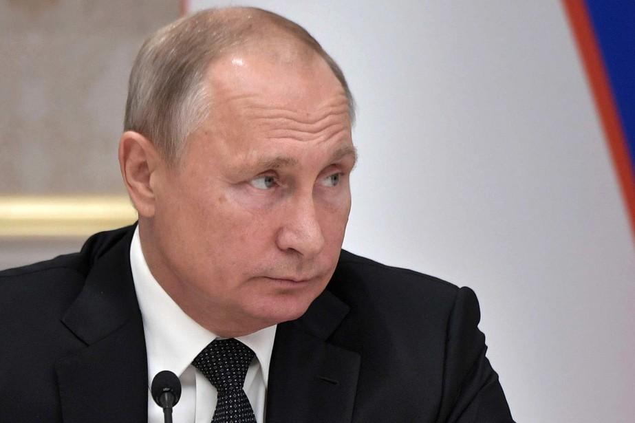 Le président russe Vladimir Poutine... (photo Alexei Nikolsky, AP/SPUTNIK)