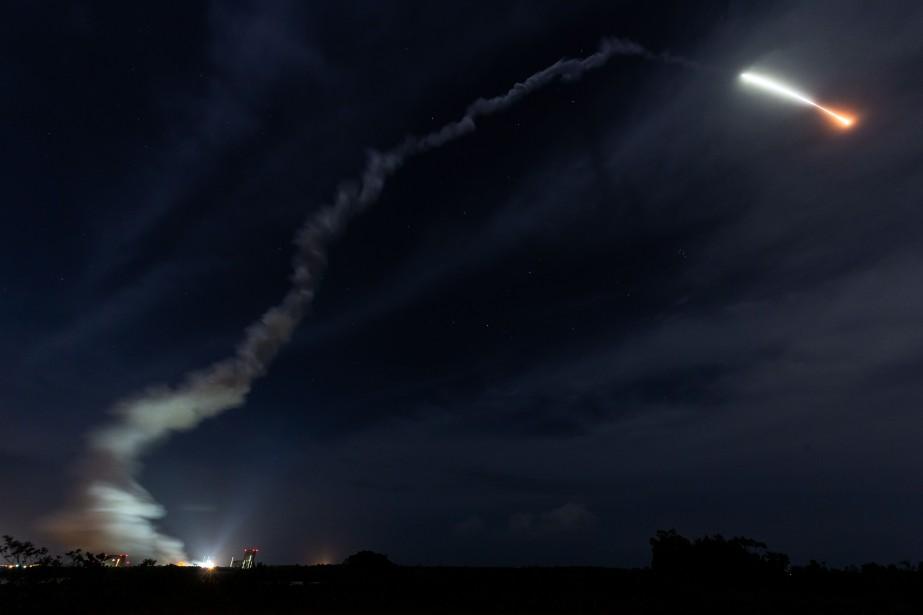 La fusée transporte la sonde BepiColombo. Elle mettra... (Photo Jody Amiet, AFP)