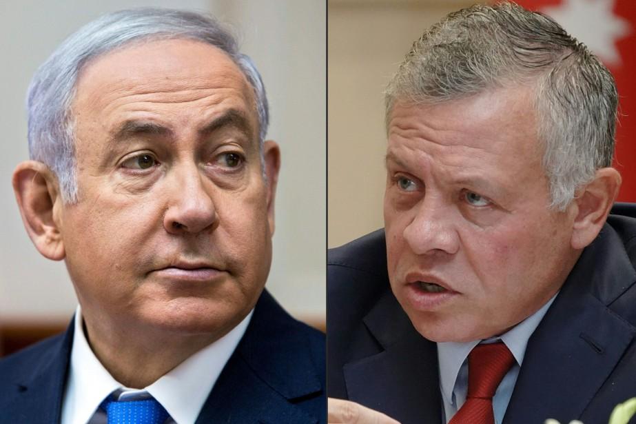 Le premier ministre israélien, Benyamin Nétanyahou (à gauche),... (photo archives AFP)