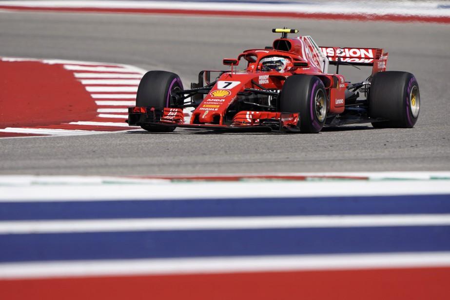 Kimi Raikkonen a signé une première victoire depuis... (Photo Darren Abate, AP a)
