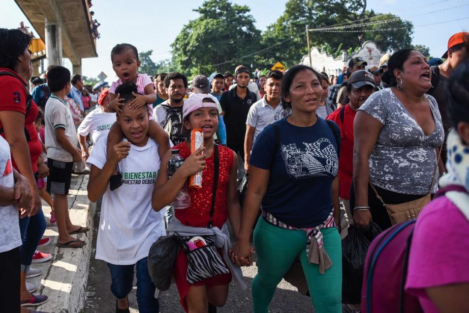 La caravane est arrivée en fin de journée,... (AFP)