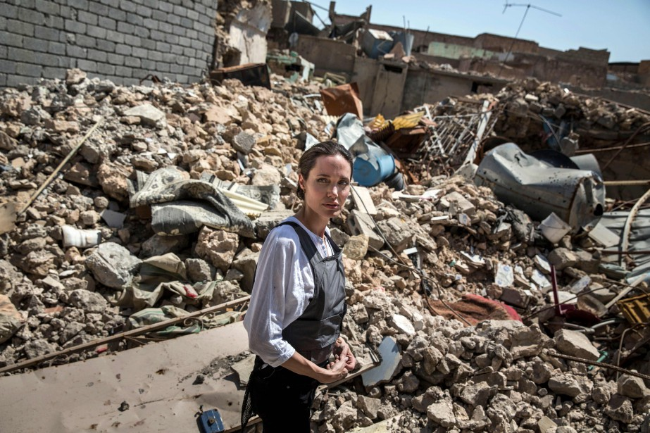 Angelina Jolie s'était déjà rendue en Irak en... (PHOTO AFP)