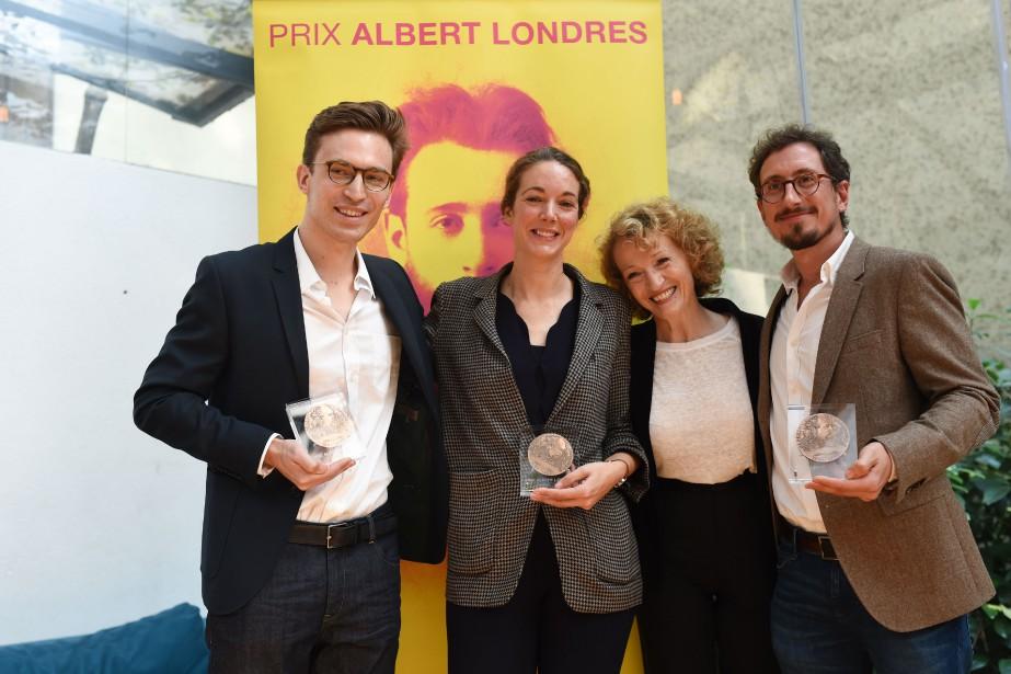 La présidente du jury Albert Londres, Annick Cojean... (Photo BULENT KILIC, AFP)