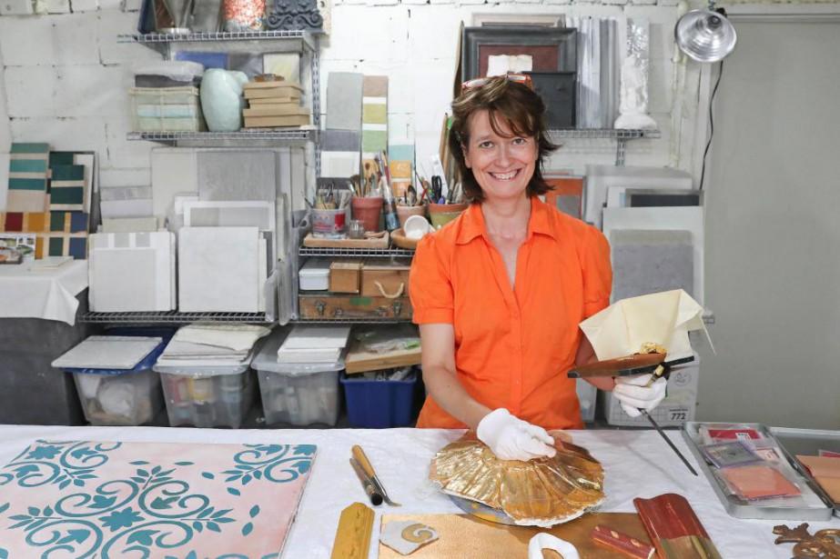 La peintre-décoratrice Marie-France Kech travaille selon des méthodes... (Photo Robert Skinner, La Presse)