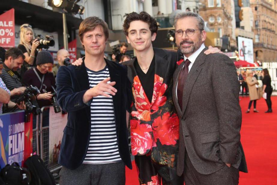 Felix van Groeningen, Timothée Chalamet et Steve Carell... (Photo:Joel C Ryan/Invision/AP)