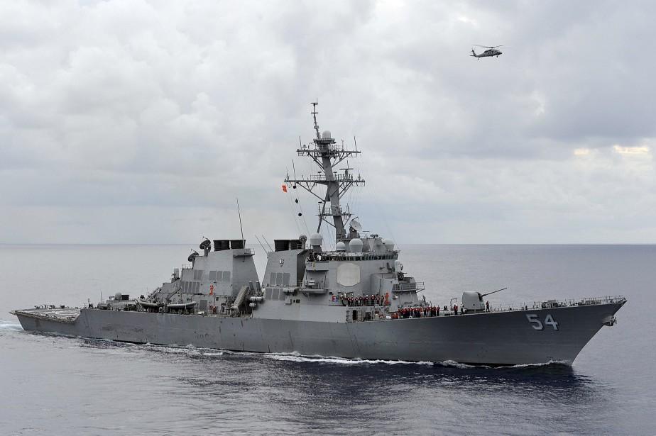 Le destroyer USS Curtis Wilbur.... (ARCHIVES REUTERS)