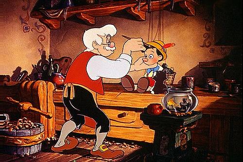 Une scène de la version Disney dePinocchio, long... (FLICKR)