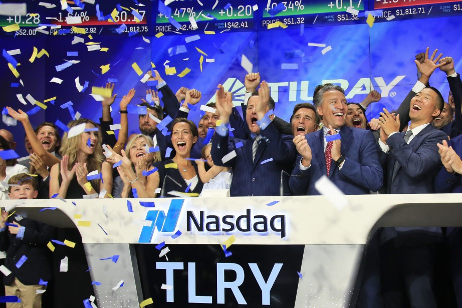 L'entreprise britanno-colombienne Tilray a vu sa capitalisation boursière... (PHOTO AP)