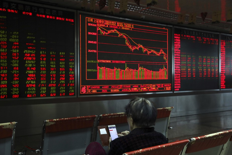 L'indice Hang Seng de la Bourse de Hong... (Photo Ng Han Guan, AP)