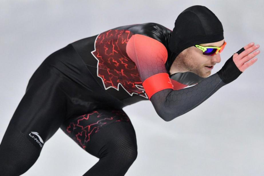 Laurent Dubreuil a remporté l'épreuve du 1000m auxChampionnats... (PHOTO MLADEN ANTONOV, ARCHIVES AGENCE FRANCE-PRESSE)