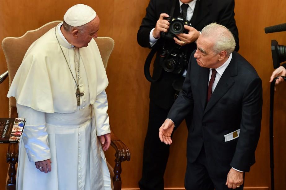 Martin Scorsese a rencontré le pape François mardi... (PHOTO AFP)