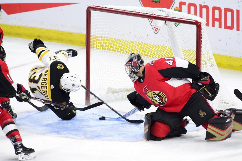 David Pastrnak a amassé deux buts et deux aides pour guider les... (PHOTO PC)
