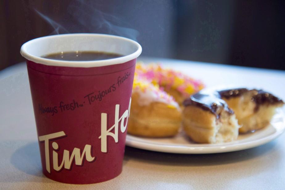 Au Canada, les ventes des cafés Tim Hortons... (Photo Jonathan Hayward, La Presse canadienne)