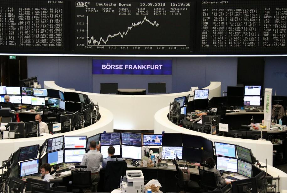 La bourse de Francfort.... (Photo REUTERS)