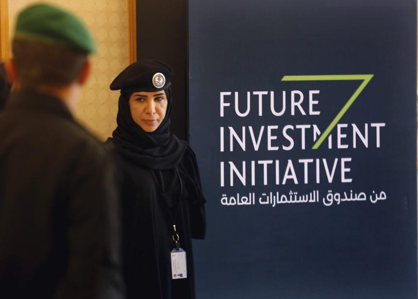 Le forum Future Investment Initiative, qui s'est amorcé... (Photo Amr Nabil, Associated Press)