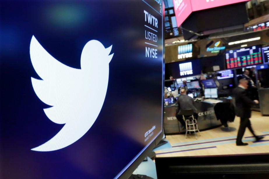 Le titre de Twitter s'envolait vers 7h35 de... (Photo Richard Drew, AP)