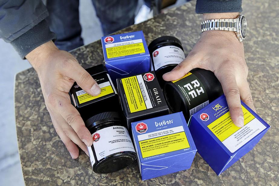 Sur cette photo, des produits de la SQDC.... (Photo Alain Roberge, archives La Presse)