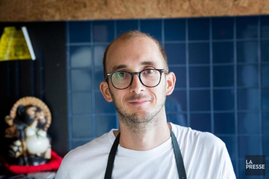 Aaron Langille, chef au restaurant LeDiplomate, à Montréal... (Photo Marco Campanozzi, La Presse)