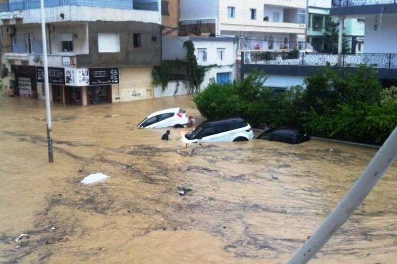 La Jordanie a connu de fortes précipitations jeudi... (Photo tirée de Twitter)