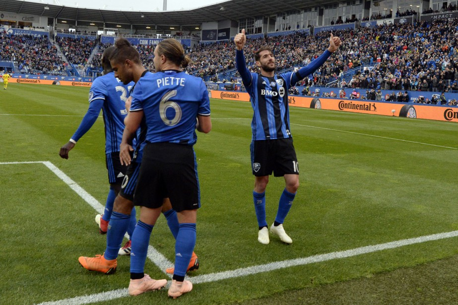 Les joueurs de l'Impact espèrent vaincre le Revolution... (Photo Eric Bolte, USA TODAY Sports)