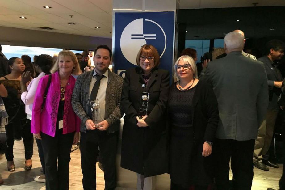 Claudia Black, Danielle Lamy, Christiane Pelchat et Claudio... (Photo fournie par le CECI)