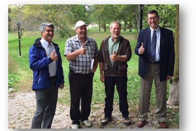 Patrick D'Almada, Paul Foster, Byron Wesson et Blaine... (Photo fournie par Honda Canada)