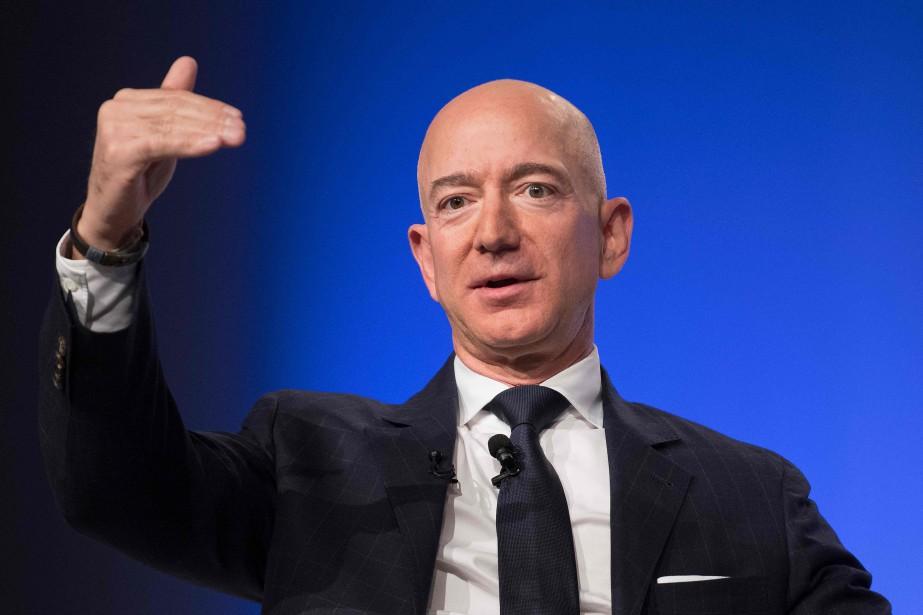 Le milliardaire américain et patron d'Amazon, Jeff Bezos... (Photo JIM WATSON, archives AFP)
