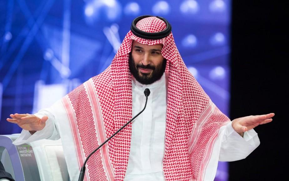 Le prince héritier saoudien Mohammed ben Salmane... (PHOTO AP/AGENCE DE PRESSE SAOUDIENNE)