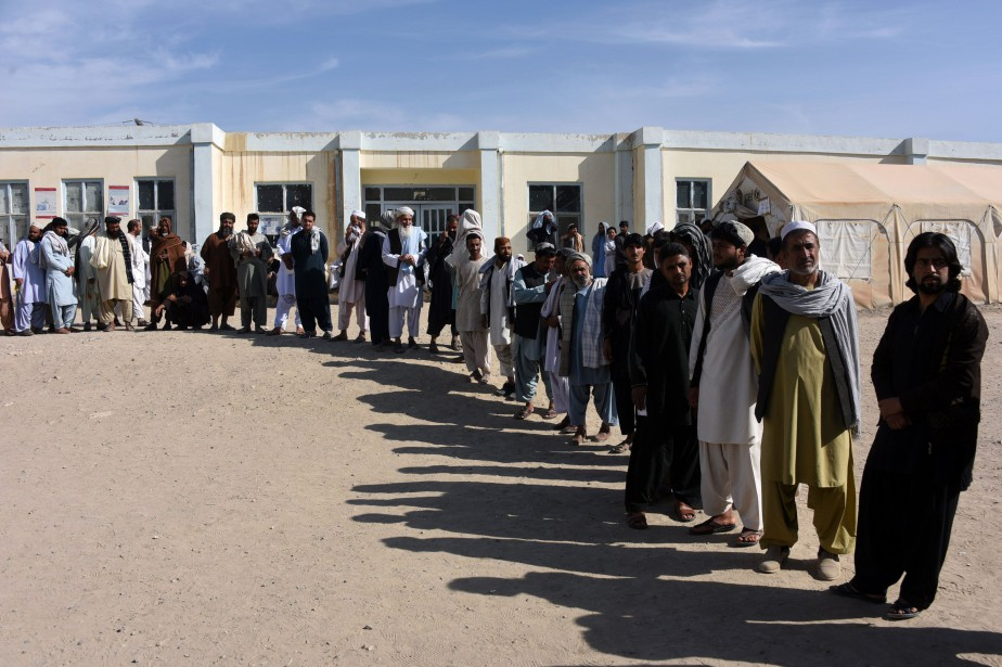 Plus de 500000 électeurs étaient appelés aux urnes.... (Photo JAWED TANVEER, AFP)