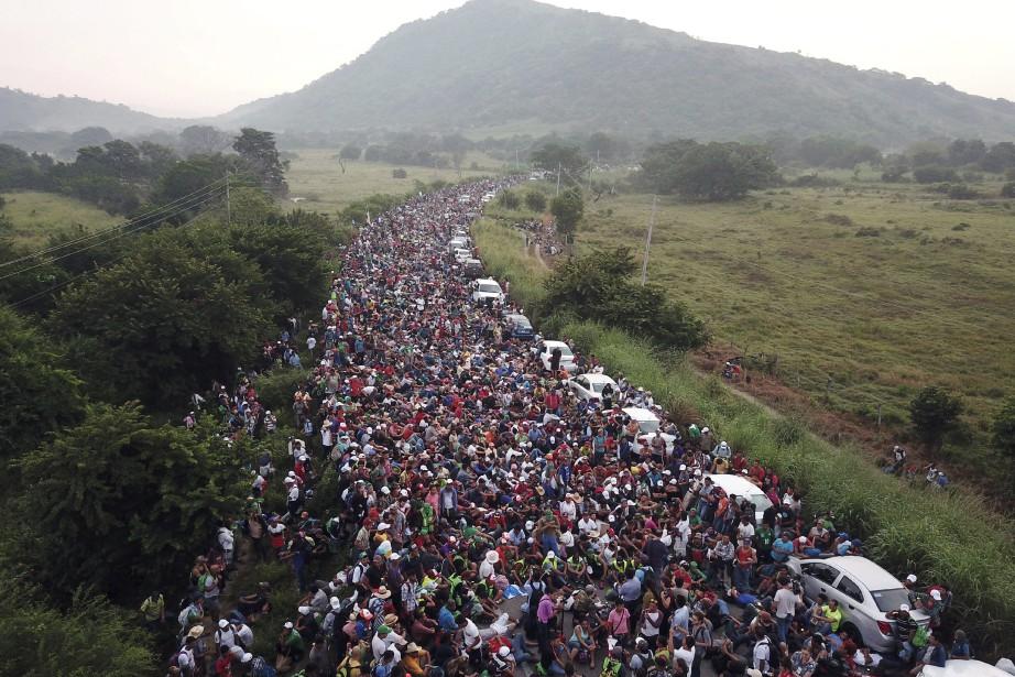 Bien que de telles caravanes ne soient pas... (Photo Rodrigo Abd, AP)