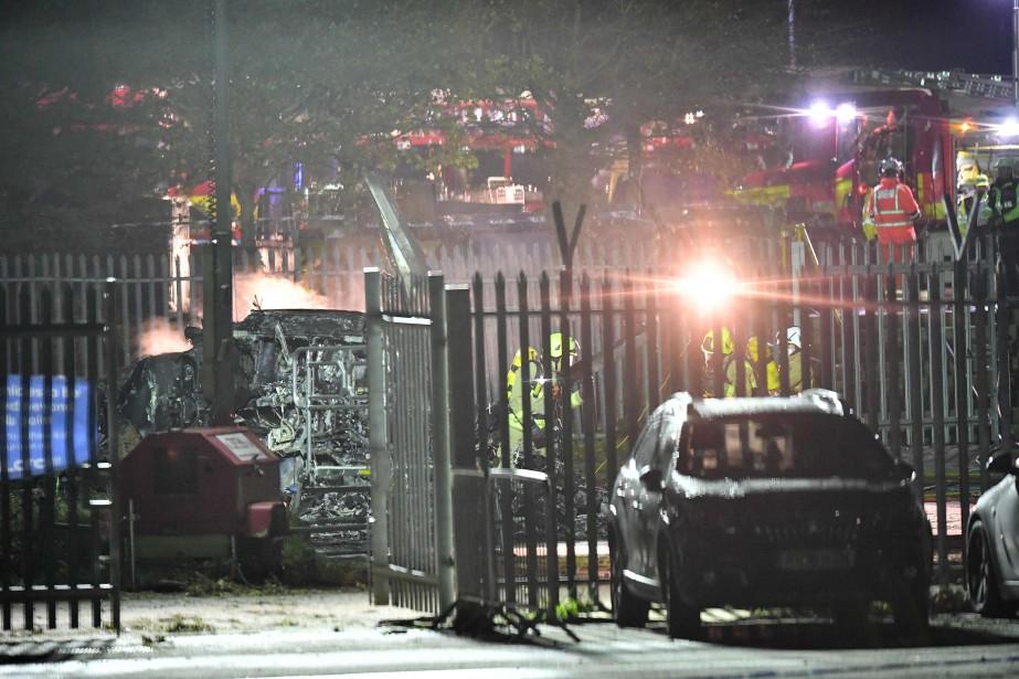 Un hélicoptère appartenant au propriétaire du club Leicester... (Photo BEN STANSALL, Agence France-Presse)