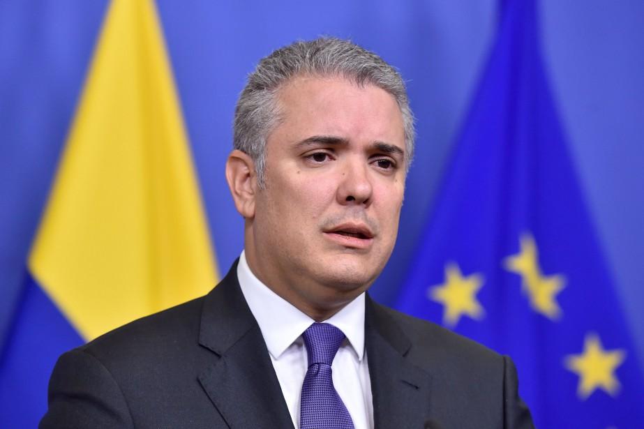 Le président colombien Iván Duque... (Photo ERIC VIDAL, REUTERS)